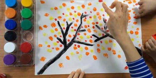 Toddler Art Finger Print Tree