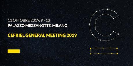 Cefriel General Meeting 2019 biglietti