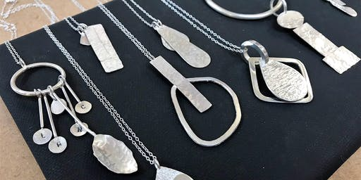 Silversmithing Silver Pendants workshop by ANUKA Jewellery.