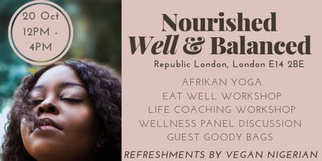 Nourished, Well & Balanced tickets