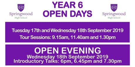 Springwood High School Academy Open Day Tours and Open Evening 2019 tickets