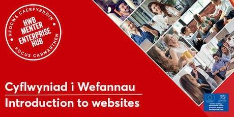 Cyflwyniad i Wefannau   Introduction to Websites tickets