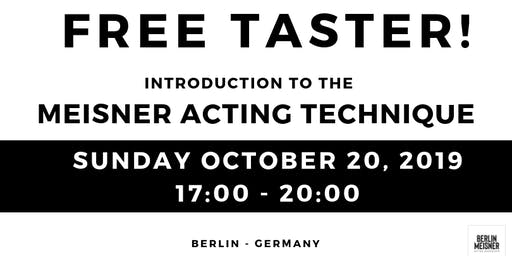 MEISNER TECHNIQUE FREE TASTER