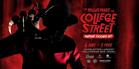 The Nightmare on College Street - Charlotte's Largest Halloween Bar Crawl tickets