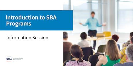 SBA Programs & Services - Webinar tickets