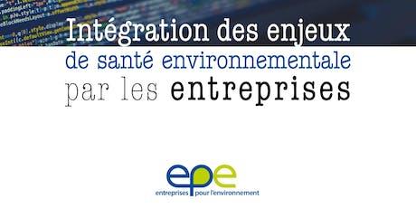 Lancement de la nouvelle publication d'EpE santé-environnement tickets