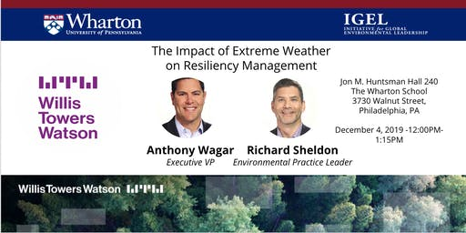 IGEL Seminar: The Impact of Extreme Weather on Resiliency