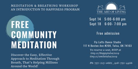 meditation and breathing workshop tickets