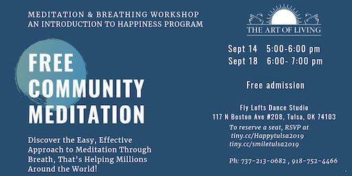 meditation and breathing workshop