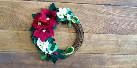 Hand Felted Christmas Wreath - Resist and Wet and Needle Felting tickets