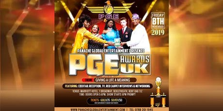 PANACHE GLOBAL ENTERTAINMENT AWARDS UK 2019 DINNER NIGHT tickets