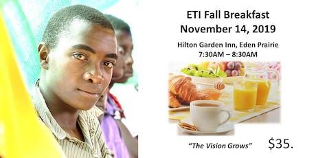 ETI Fall Breakfast tickets