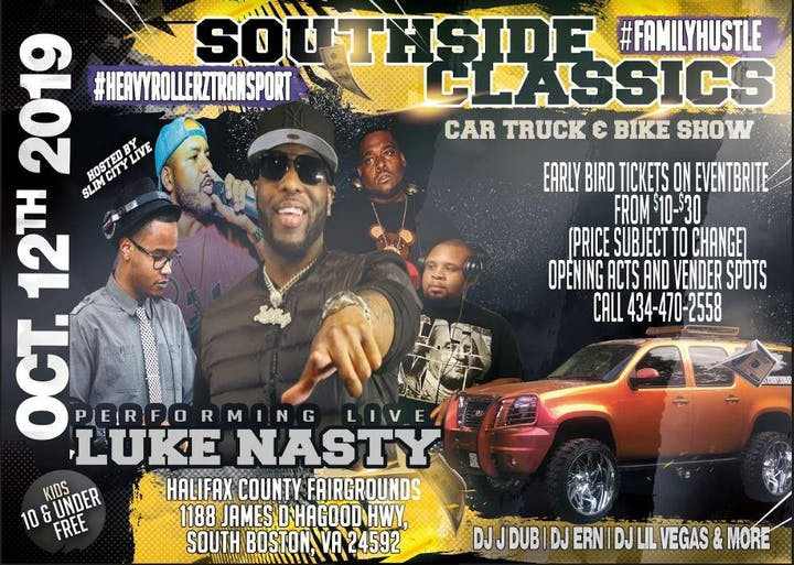 SOUTHSIDE CLASSICS CAR TRUCK AND BIKE SHOW Tickets, Sat, Oct