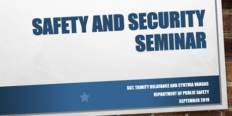 Safety and Security Seminar tickets