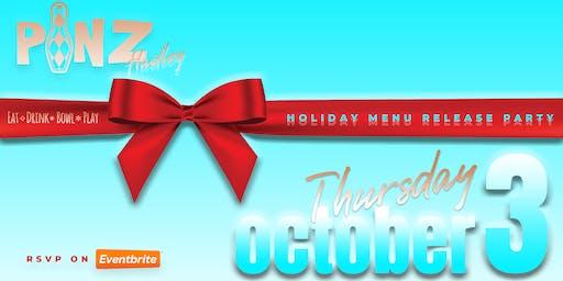PiNZ Holiday Menu Release