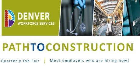 Job Seeker Registration - Path to Construction (September 25, 2019) tickets