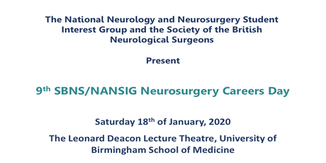 9th SBNS/NANSIG Neurosurgery Careers Day tickets