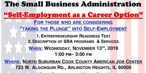 Self-Employment as a Career Option with the SBA (Cook County)