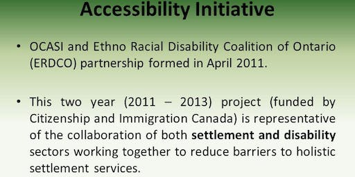 Creating Inclusive Spaces for Immigrants and Refugees Living with Visible and Invisible Disabilities
