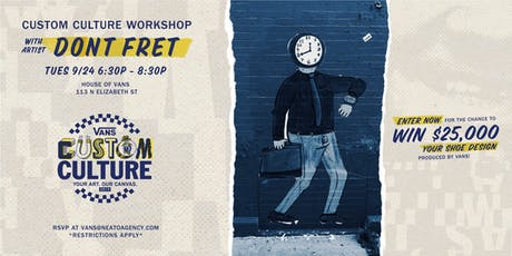 House of Vans Presents: Custom Culture Drawing and Design Workshop tickets