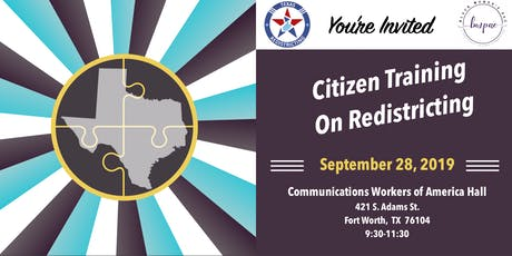 Citizen Training on Redistricting tickets