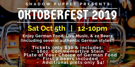 Oktoberfest at Shadow Puppet Brewing Company tickets