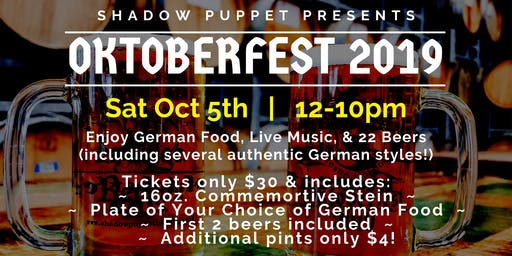 Oktoberfest at Shadow Puppet Brewing Company