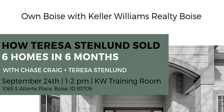 How Teresa Sold 6 Homes in Her First 6 Months of Real Estate tickets