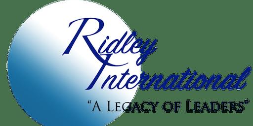 Ridley International Leadership School - October 2019
