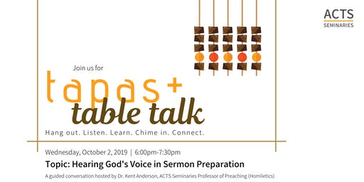 ACTS Seminaries Tapas + Table Talk
