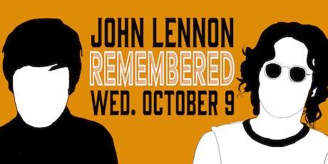 John Lennon Remembered tickets