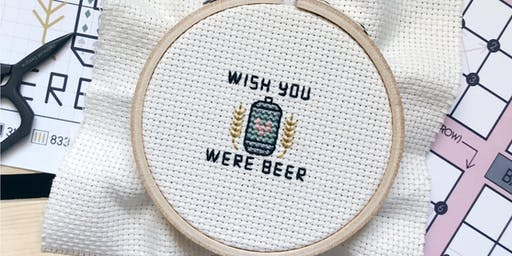 Cross Stitching with Caitlin