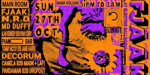 ReBoot presents : FJAAK (Dj Set) at Electric Ballroom