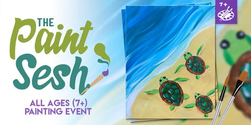 """All Ages Painting Event in Riverside, CA - """"Turtle Beach"""""""