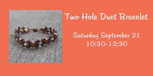 Two Hole Duet Bracelet