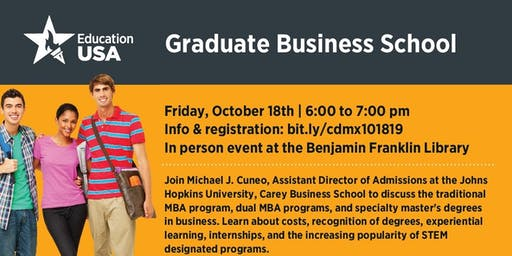 Graduate Business School with Johns Hopkins University