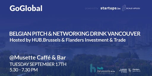 Belgian Pitch and Networking Drink Vancouver