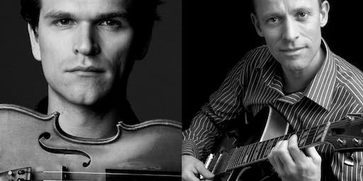 Violinist Mads Tolling and guitarist Jacob Fischer, Union Church, Berea. KY