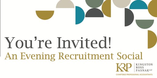 You're Invited! An Evening Recruitment Social with Kingston Ross Pasnak