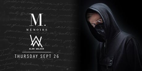 Alan Walker at Mémoire tickets