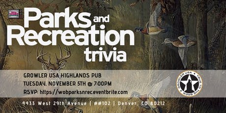 Parks & Rec Trivia at Growler USA Highlands Pub tickets
