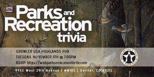 Parks & Rec Trivia at Growler USA Highlands Pub
