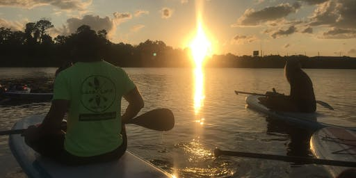 Sunset Paddle on Lake Conway