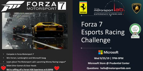 Forza7 eSports Racing Challenge eGame MSL X MSFT tickets