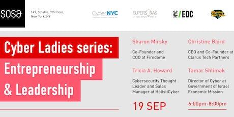 Cyber Ladies series: Entrepreneurship & Leadership   tickets