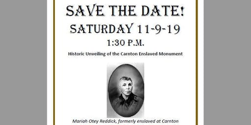 Carnton Enslaved Monument Unveiling