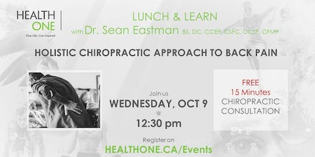 Holistic Chiropractic Approach to Back Pain tickets