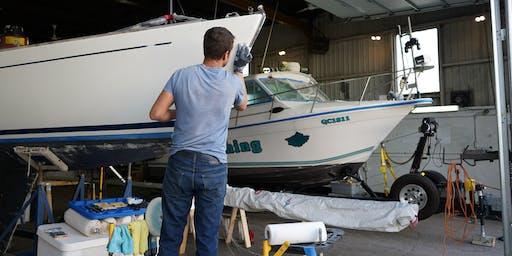 Réparation de fibre de verre sur un bateau de plaisance (19-75)
