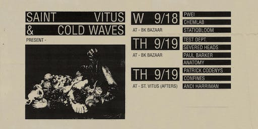 2-DAY PASS - Cold Waves: POP WILL EAT ITSELF, TEST DEPT, CHEMLAB plus more