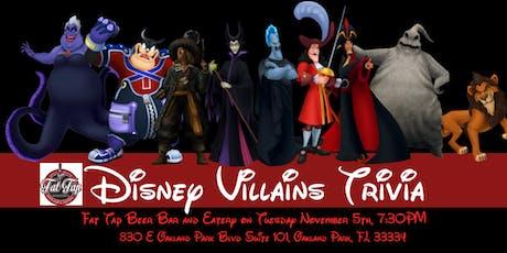 Disney Villains Trivia  at Fat Tap Beer Bar & Eatery tickets